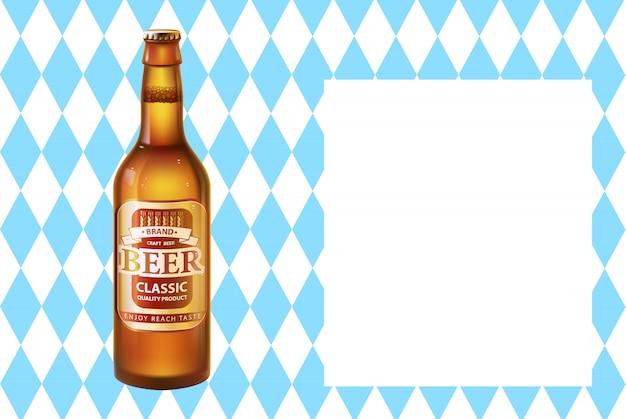 Poster dell'oktoberfest birra artigianale in bottiglia con tappo