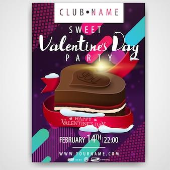 Poster della festa di san valentino