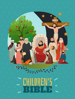 Poster della storia della bibbia