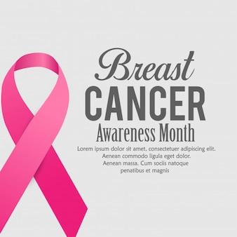 Poster design consapevolezza del cancro al seno