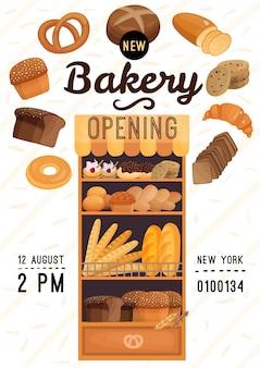 Poster di apertura di panetteria