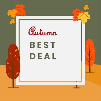 Poster di autumn beast deal