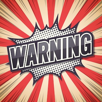 Poster di avvertimento, fumetto,