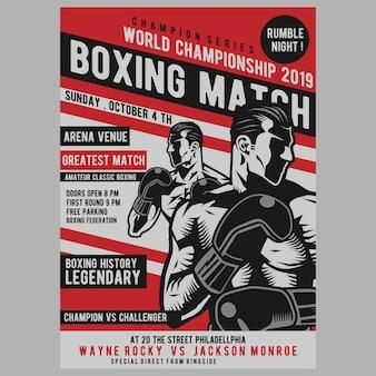 Poster di boxe