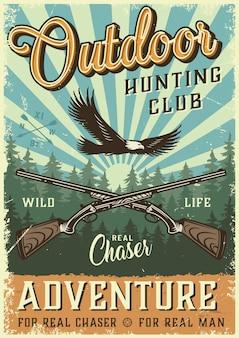 Poster di caccia colorato