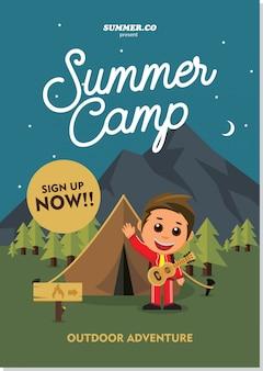Poster di campeggio estivo