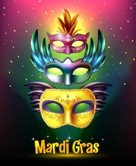 Poster di carnevale di mardi gras