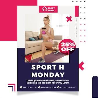 Poster di casa sportiva con foto