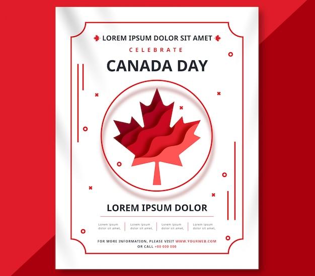 Poster di celebrare il giorno del canada