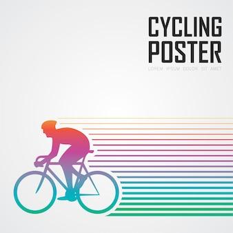 Poster di ciclismo moderno