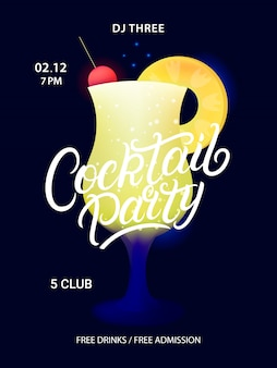 Poster di cocktail party.