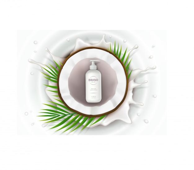 Poster di concetto per crema naturale biologica