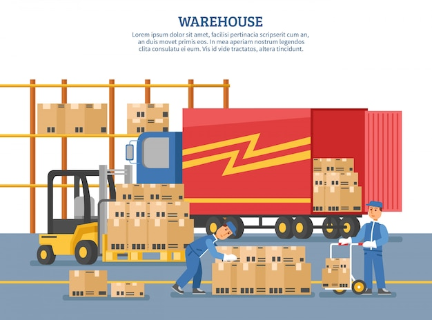 Poster di consegna logistica