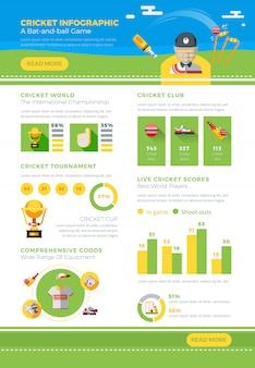 Poster di cricket infografica