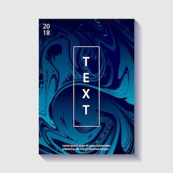 Poster di design creativo con marmorizzazione.