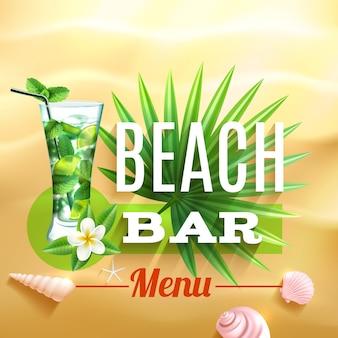 Poster di design tropicale