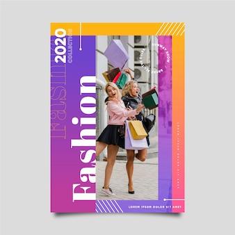 Poster di donne con borse della spesa