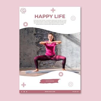 Poster di equilibrio del corpo yoga