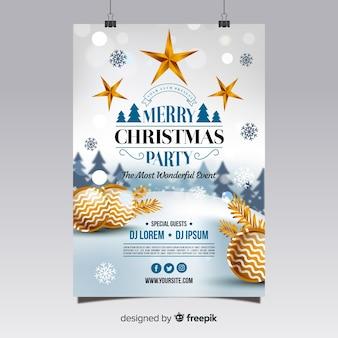 Poster di festa di natale