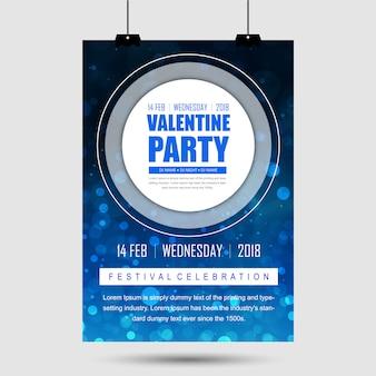 Poster di festa di San Valentino vettoriale
