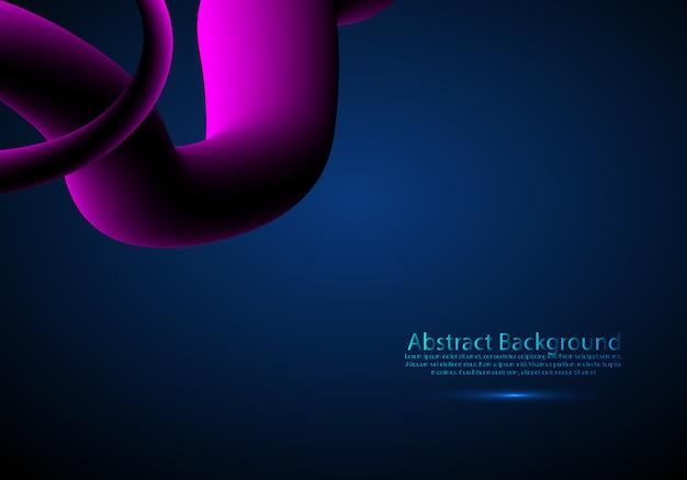 Poster di flusso futuristico.