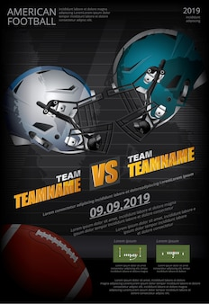 Poster di football americano