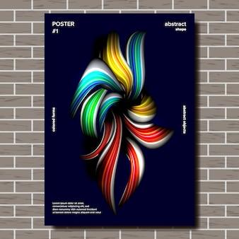 Poster di forma astratta