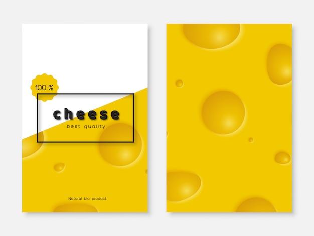 Poster di formaggi, menu design.