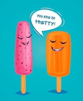 Poster di gelati divertenti