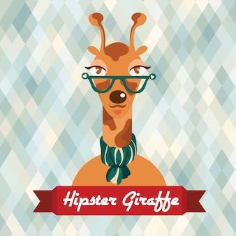 Poster di giraffa hipster