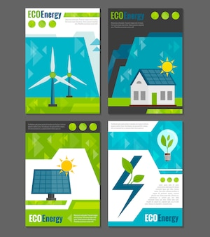 Poster di icone di energia eco