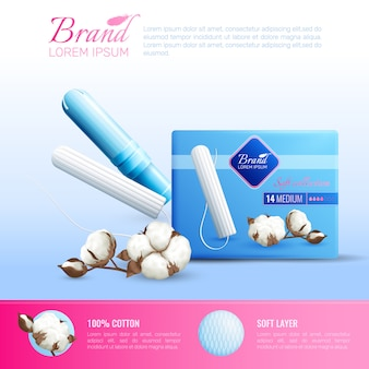 Poster di igiene femminile