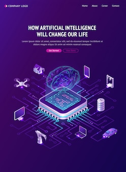 Poster di intelligenza artificiale