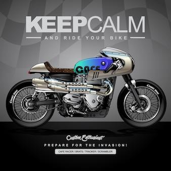 Poster di moto da corsa classica