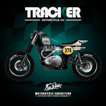 Poster di moto vintage street tracker