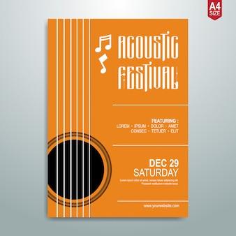 Poster di musica minimalista