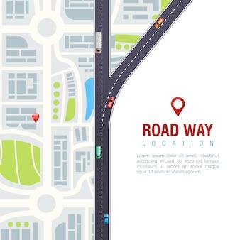 Poster di navigazione stradale