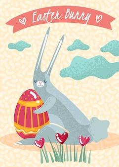 Poster di pasqua primavera verticale