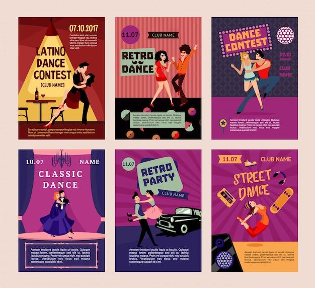 Poster di persone danzanti colorate