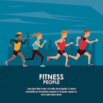 Poster di persone di fitness