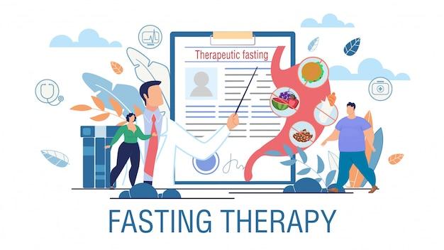 Poster di promozione del trattamento dell'obesità per terapia a digiuno