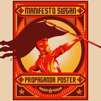 Poster di propaganda retro