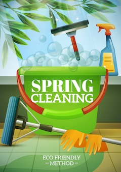 Poster di pulizie di primavera