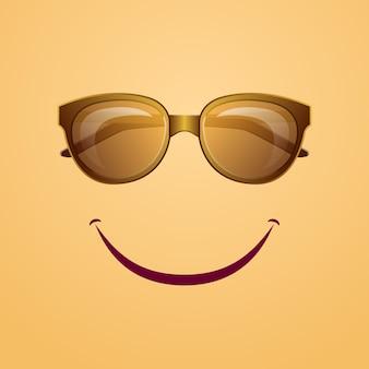 Poster di riposo estivo con occhiali da sole hipster