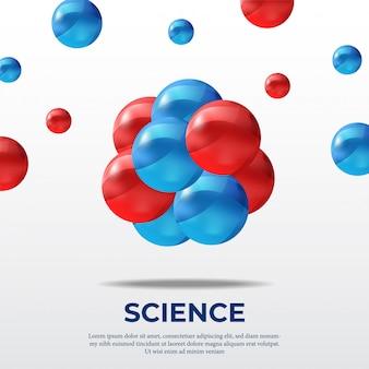 Poster di scienza molecola atomica