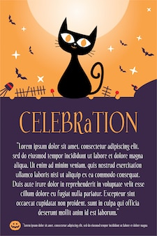 Poster di sfondo di halloween