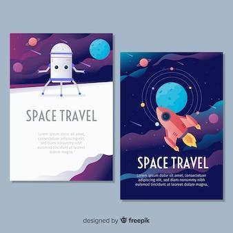 Poster di spazio esterno disegnato a mano