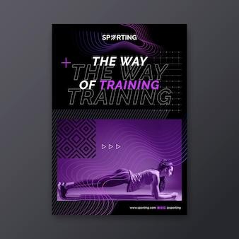 Poster di sport e tecnologia