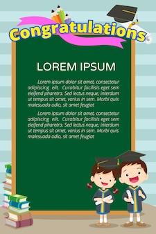 Poster di studenti di congratulazioni