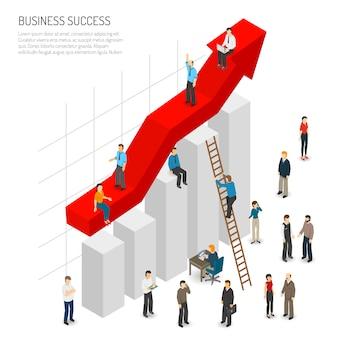 Poster di successo aziendale persone